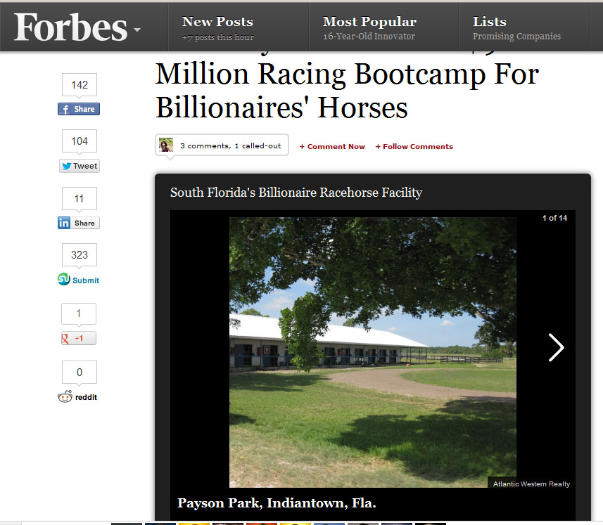 Payson Park in Forbes.com