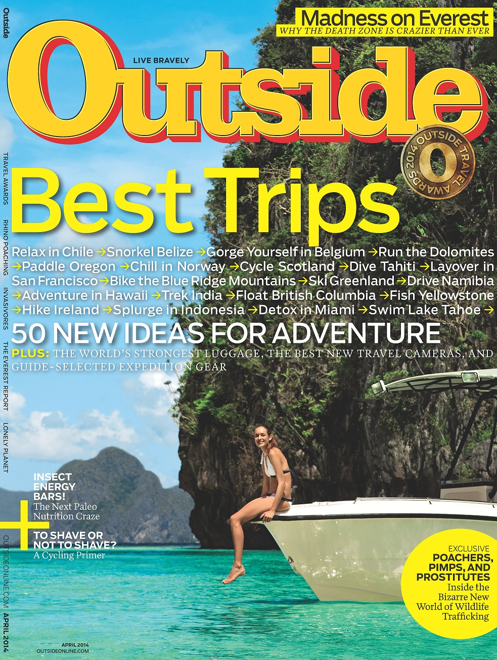 Outside Travel Awards Issue Cover