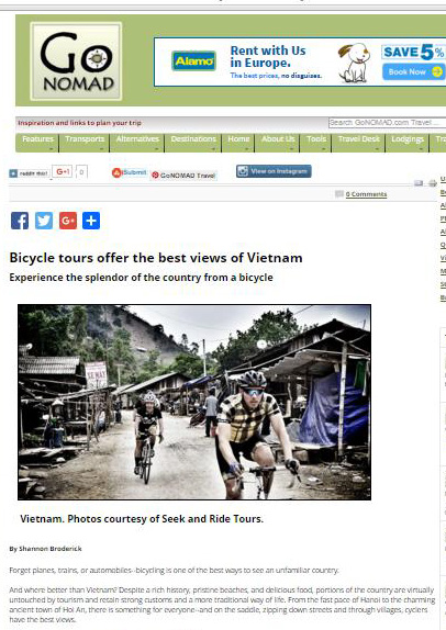 Vietnam cycling tour